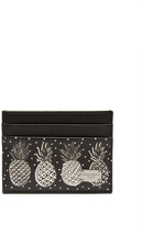 Dolce & Gabbana Pineapple-print leather cardholder