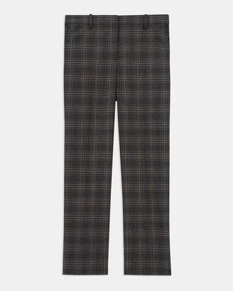 Theory Treeca Pant in Plaid Wool