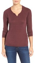 Joe's Jeans Women's 'Penn' Split Neck Linen Tee