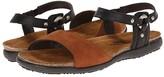 Naot Footwear Sabrina (Jet Black Leather/Hawaiian Brown Nubuck) Women's Shoes
