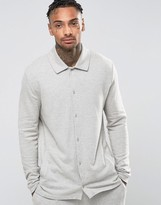 Asos Loungewear Pajama Shirt In Brushed Woven Texture