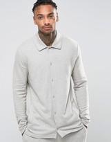Asos Pyjama Shirt In Brushed Woven Texture