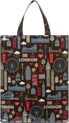 Harrods Medium Glitter London Shopper Bag
