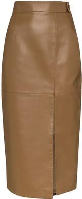 MATÉRIEL Faux Leather Pencil Skirt