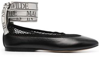 J.W.Anderson Mesh-Panel Ballerina Shoes