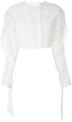 Martha Medeiros Ariella ruffle applique blouse