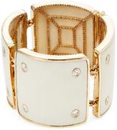Maiyet 18K Yellow Gold, Bone & 14.90 Total Ct. Diamond Machu Picchu Stud Bracelet