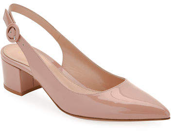 Gianvito Rossi Patent Leather Slingback Pumps