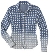 Mossimo Juniors Long Sleeve Button Down Shirt - Melody Wash