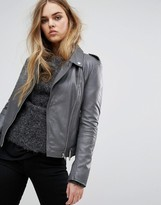 Muu Baa Muubaa Argal Leather Biker Jacket