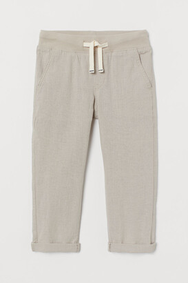 H&M Pull-on linen-blend chinos
