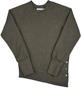 Mimobee Weekend Grommet-Embellished Cotton Sweatshirt-GREY