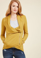 ModCloth Airport Greeting Cardigan in Honey in S