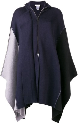 Chloé asymmetric zip-up poncho