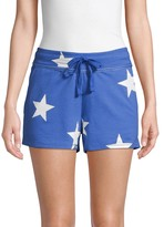 Andrew Marc Star-Print French Terry Shorts