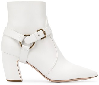 Miu Miu Buckle Strap Ankle Boots