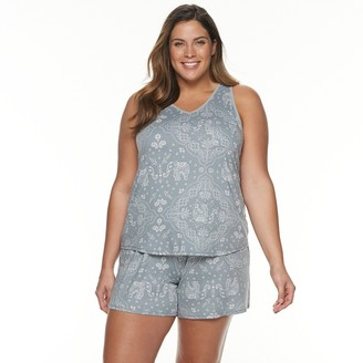 Croft & Barrow Plus Size Lush Luxe Tank & Shorts Pajama Set