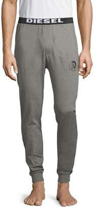 Diesel Heathered Cotton-Blend Jogger Lounge Pants