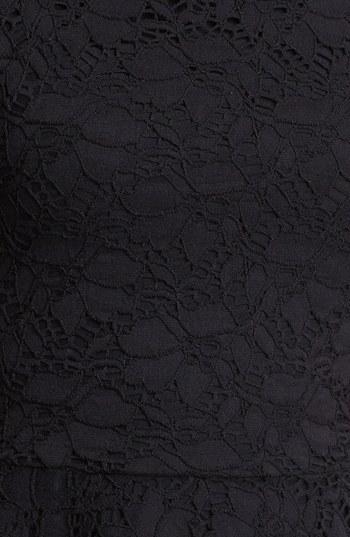 Karen Kane Handkerchief Peplum Lace Top Black X-Large