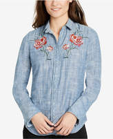 William Rast Cotton Embroidered Denim Shirt