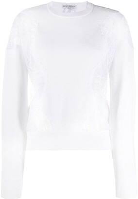 Givenchy Lace Panels Sweatshirt