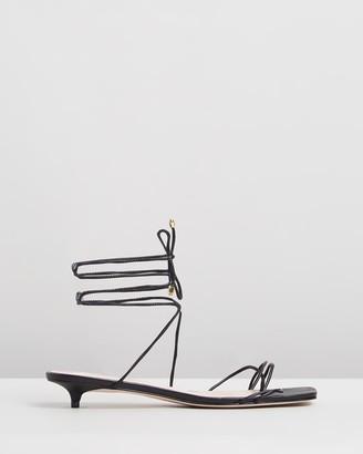 Schutz Tie-Up Square Toe Sandals