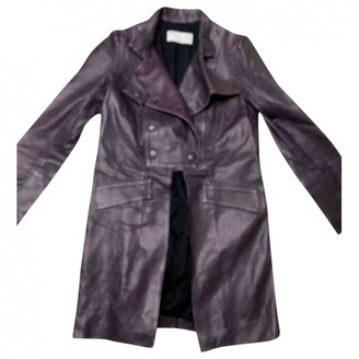 Chloé Purple Leather Coat for Women