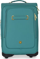 "Joy Mangano Christie 22"" Carry-On Leather Suitcase With SpinballTM Wheels"