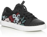 Rebecca Minkoff Bleecker Embroidered Lace Up Sneakers