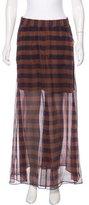 Brunello Cucinelli Silk Maxi Skirt