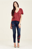 True Religion Rose Jennie Curvy Skinny Womens Jean