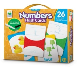 The Learning Journey Write and Erase Numbers Flash Cards