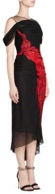 Alexander McQueen Women's Embroidered Bodycon Dress - Black - Size 38 (2)