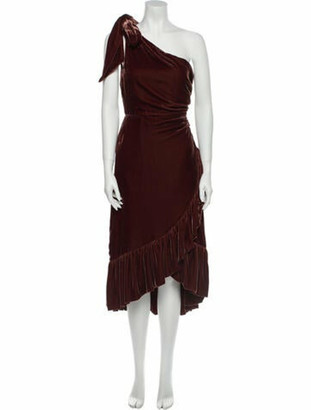 Ulla Johnson One-Shoulder Long Dress w/ Tags Brown