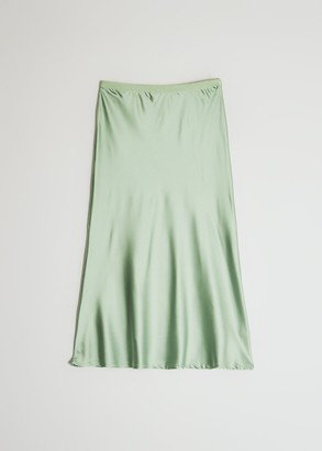 Which We Want Women's Marina Slip Skirt in Leaf, Size Small