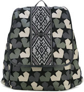 Ports 1961 stars camouflage backpack - men - Cotton/Leather - One Size
