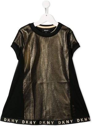 DKNY Metallic Logo Print Dress