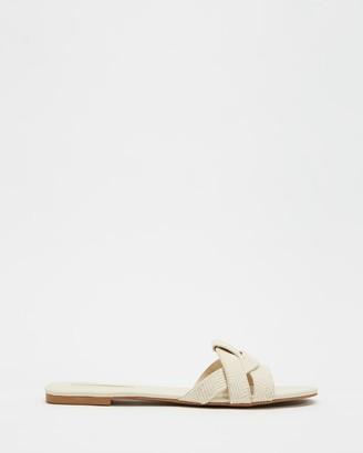 Billini - Women's White Flat Sandals - Peppa - Size 6 at The Iconic