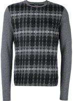 Emporio Armani checked pattern pullover