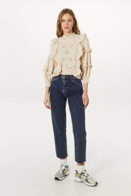 BDG Pax Dark Vintage Straight Leg Jeans - blue 24W 30L at Urban Outfitters