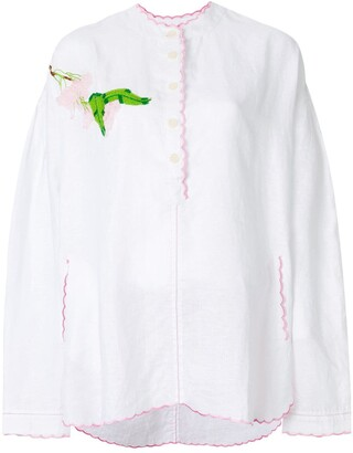Natasha Zinko Embroidered Voile Tunic