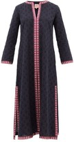 Le Sirenuse Le Sirenuse, Positano - Brenda Embroidered Cotton Kaftan - Womens - Navy