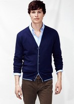 Mango Outlet Contrast Elbow-Patch Cardigan