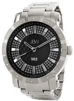 """JBW Men's \""""562\"""" Diamond Bracelet Watch, 50mm - 0.12 ctw"""