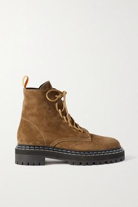 Proenza Schouler Suede Ankle Boots - Beige