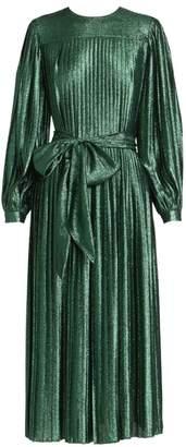 Marc Jacobs Runway Glitter Lame Pleated Midi Dress
