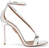 Aquazzura Casanova Metallic Leather Sandals - IT39