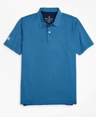 Brooks Brothers Boys Performance Series Feeder Stripe Polo Shirt