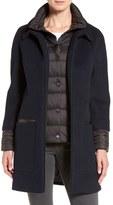 Soia & Kyo Women's 'Lettie' Quilt Detail Wool Blend Coat