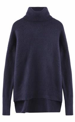 Fancy Stitch Women's Turtleneck Loose Fit Cozy Sweater Top